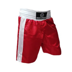Професионални боксови шорти / Pro series - високо качествени шорти за бокс на марката IRON INSIDE Червен цвят