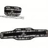 Колан за кофички GREY CAMO / IRONINSIDE - коланът е от изключително здрав винилов материал - 15 см в най-широката частна кръста.