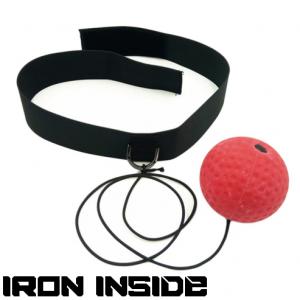 Boxing Reflex Ball / IRONINSIDE - скоротсна топка, уред за трениране, който развива бързината, ловкостта, координацията и концентрацията на състезателя.