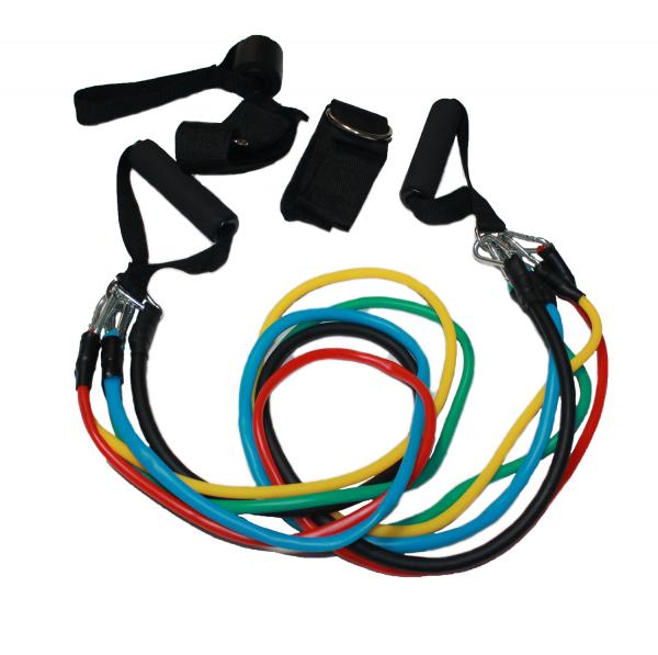 Комплект ластици с различни съпротивления и накрайници - най-големият плюс при ластиците е, че те са удобен и практичен уред за трениране.