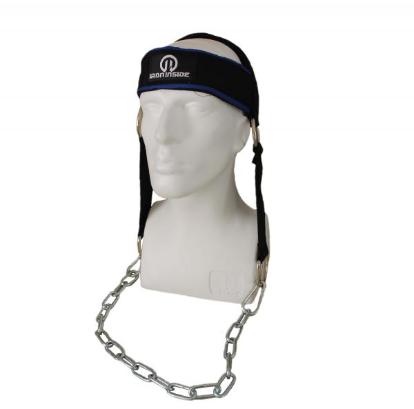 Верига за глава / оглавник IRONINSIDE е добре познатият ни уред за трениране на вратните мускули. Удобство и комфорт при натоварване.