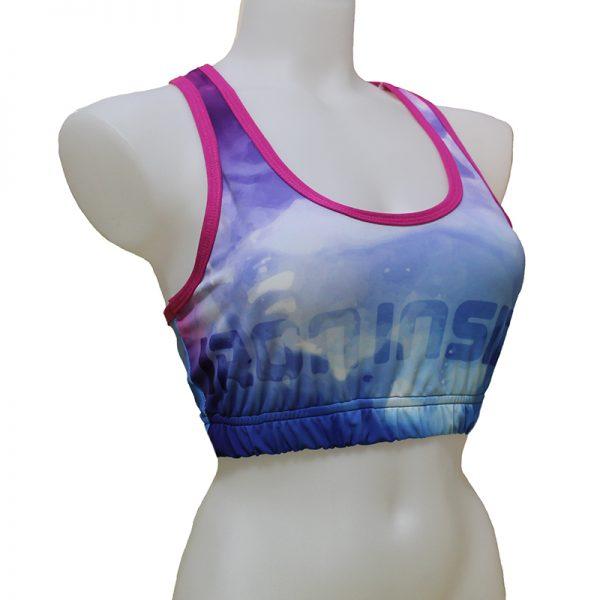 Дамско спортно бюстие / Inspiration IRONINSIDE - създадено за да оптимизираме комфорта и гарантираме защита на бюста по време на тренировки.