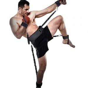 Тренировъчен колан Fight belt / с ластици – уникален аксесоар за всички трениращи бойни спортове. Развиващ бързина, сила и координация
