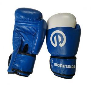 Боксови ръкавици Classic / ест. кожа - IRON INSIDE сини